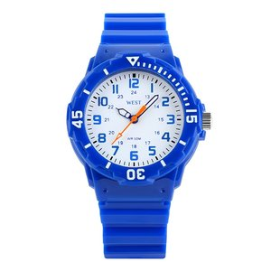 West Watch – sportief analoog kinderhorloge - model Moon – blauw
