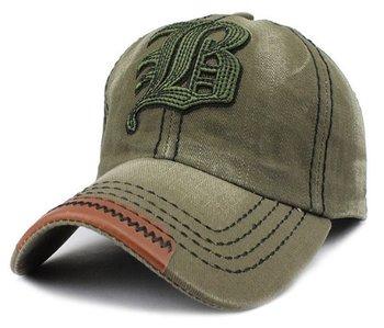 M.O.I - Snapback cap - baseball cap - voor mannen in een vintage look groen