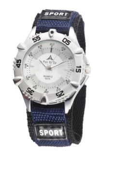 M.O.I - Sporthorloge blauw/zilver 40mm