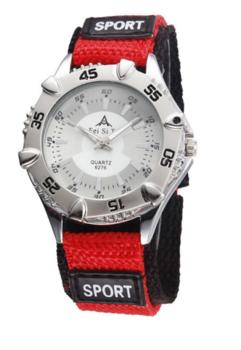 M.O.I - Sporthorloge rood/zilver 40mm