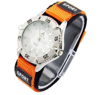 M.O.I - Sporthorloge oranje/zilver 40mm