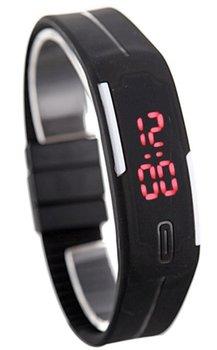 M.O.I - LED Sporthorloge - Horloge - Rubber - Zwart - 20 mm