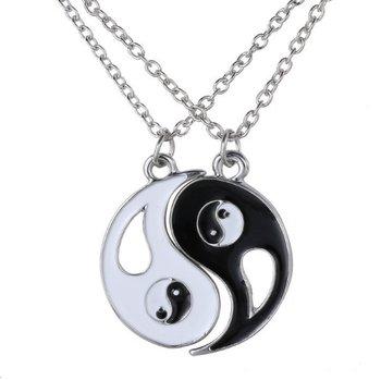 M.O.I - Duoketting Yin/Yang kleur zilverkleurig