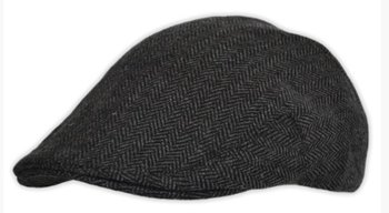 G&H Great Horse Herringbone kinder Flat Cap - originele check Flatcap - regular fit - donkergrijs