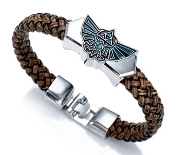 M.O.I - Stoere jongens armband - kinder armband - bruin-zwart - met RVS gekleurd symbool