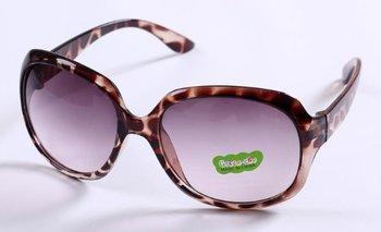M.O.I - Hippe meisjes zonnebril met subtiele tijgerprint in de kleur bruin/grijs