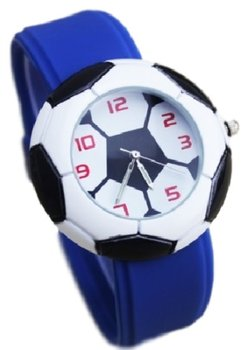 M.O.I - Kinder voetbal horloge blauw 40 mm