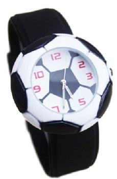 M.O.I - Kinder voetbal horloge zwart 40 mm