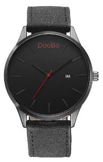 DooBo - heren horloge - zwart - 45 mm