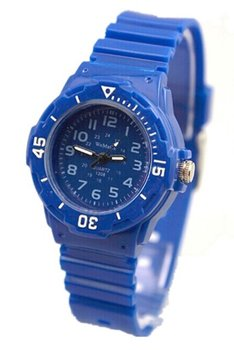 M.O.I - Leuk sportief kinderhorloge 30 mm blauw