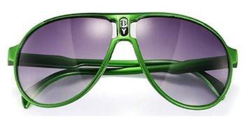 M.O.I - hippe kinder zonnebril piloot model in de kleur groen