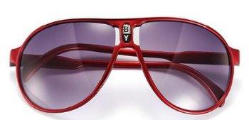 M.O.I - hippe kinder zonnebril piloot model in de kleur rood