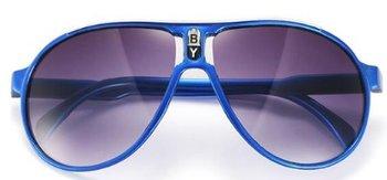 M.O.I - hippe kinder zonnebril piloot model in de kleur blauw