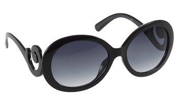 M.O.I - Vintage barokstijl zonnebril voor vrouwen in de kleur zwart