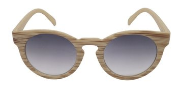M.O.I - Hippe zonnebril met licht houten uitstraling