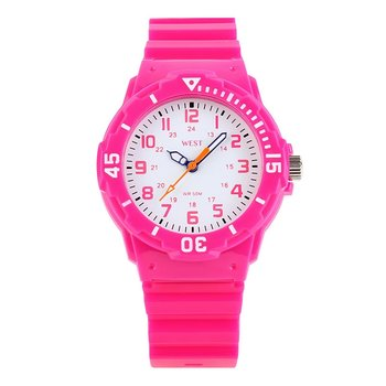 West Watch – sportief analoog kinderhorloge - model Moon – roze