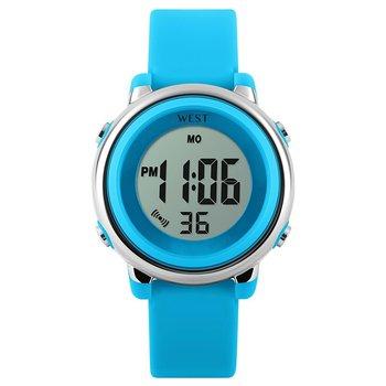 West Watch - digitaal kinder horloge – LED - model Star – licht blauw