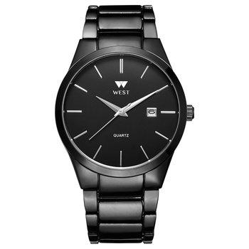 West Watch - Model Milan - basic heren horloge - analoog - staal - zwart - met datum - 40 mm