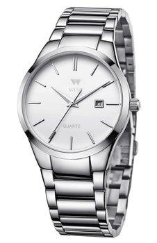 West Watch - Model Milan - basic heren horloge - analoog - staal - wit/ zilverkleurig - met datum - 40 mmm