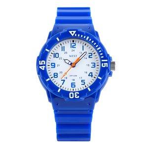 West Watch – sportief analoog kinderhorloge - model Moon – blauw