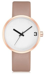 West Watch - Elegance - Dames horloge - Beige roze/ roségoud kleurig - 38 mm