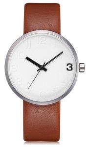 West Watch - Elegance - Dames horloge - Bruin/ zilverkleurig - 38 mm