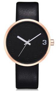 West Watch - Elegance - Dames horloge - Zwart/ roségoud kleurig - 38 mm